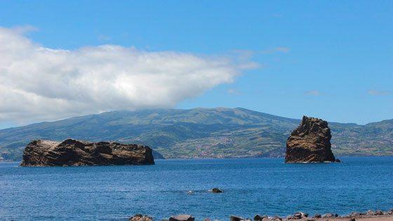 Bild vom Küstenblick vor Faial