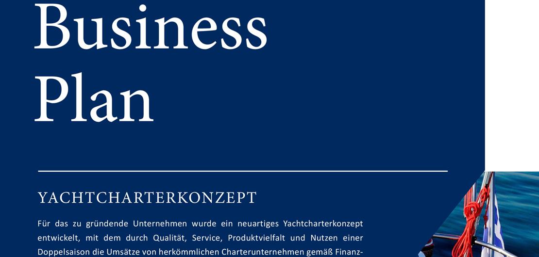 Bild vom Business Plan Deckblatt