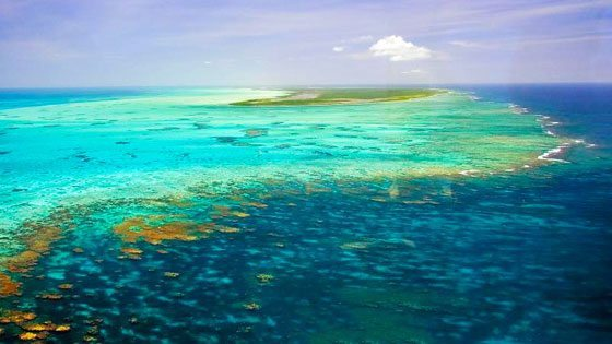 Bild vom Hufeisenförmigen Riff um Anegada