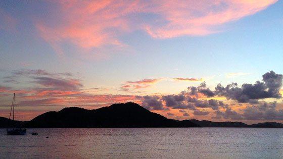 Bild vom Sonnenuntergang auf Tortola
