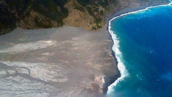 Bild vom Lavastrom auf Montserrat