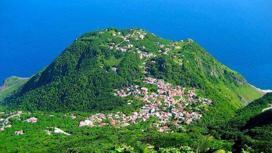 Bild vom Ausblick vom Mount Scenery auf Saba