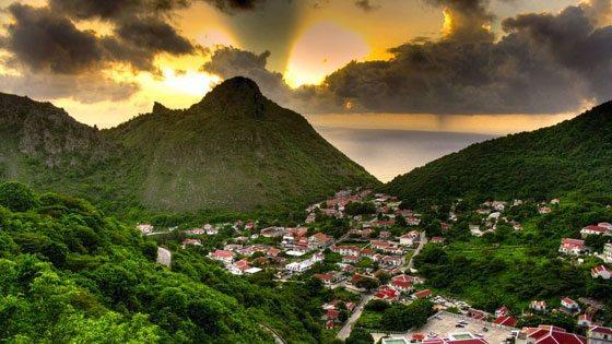 Bild von Saba im Sonnenuntergang
