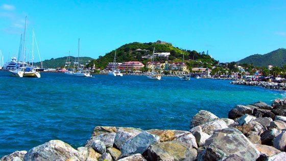 Bild vom Marigot Bay auf Saint Martin