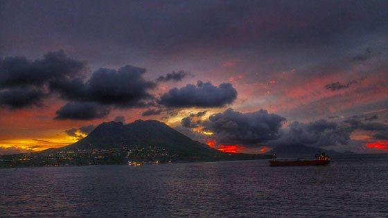 Bild vom Abend auf Sint Eustatius Island
