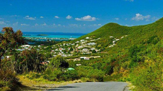 Bild vom Blick auf Marigot und die Simpson Bay auf Sint Maarten