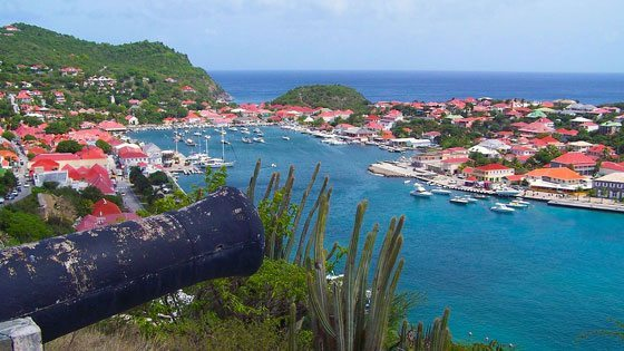 Bild vom Gustavia Harbour auf St. Barths