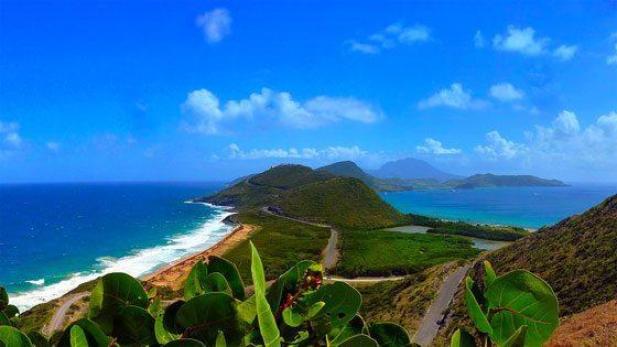 Bild vom Blick auf Nevis