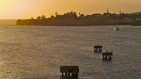Bild vom Sonnenuntergang auf St. Kitts
