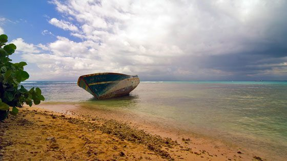 Bild vom Fischerboot auf Basse Terre auf Guadeloupe