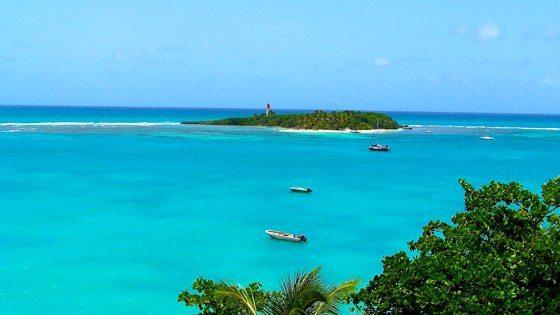Bild der Ilet du Gosier vor Guadeloupe