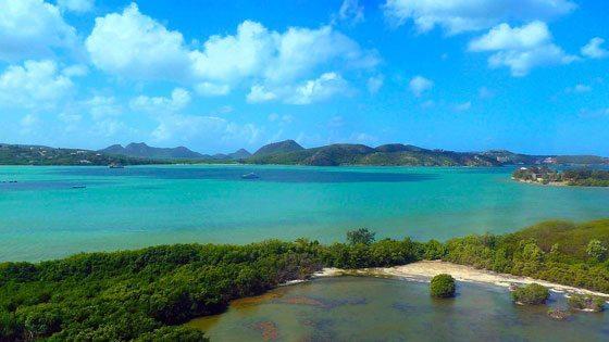 Bild vom Ausblick auf Antigua
