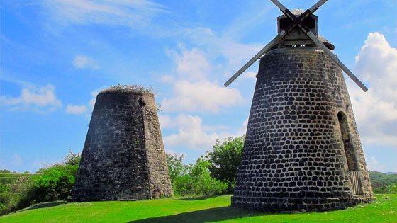 Bild von Zuckermühlen in Antigua