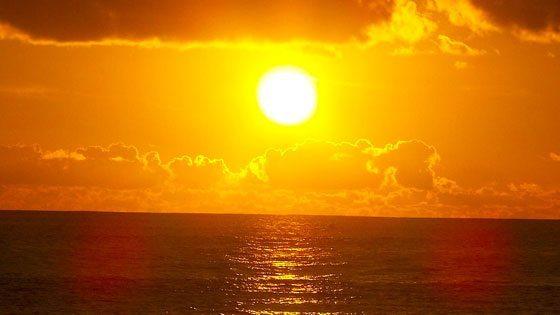 Bild vom Sonnenuntergang auf Barbuda