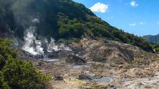 Bild von Schwefelquellen des Vulkans Soufriere auf Saint Lucia