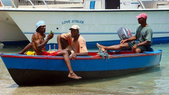 Bild von einem Fischerboot auf Bequia Island