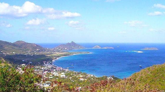 Bild vom Ausblick von Hillsborough auf Carriacou