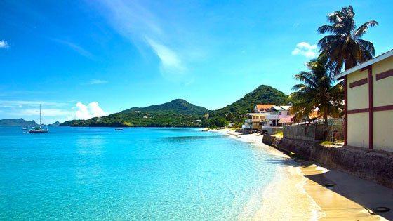 Bild vom Strand bei Hillsborough auf Carriacou