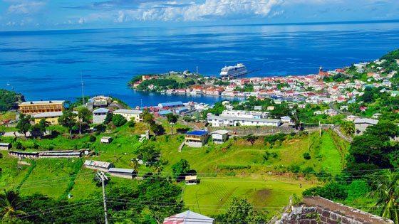 Bild vom Ausblick auf St. George auf Grenada