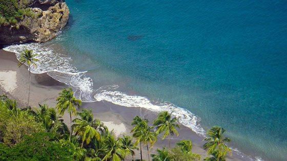 Bild vom Strand Anse des Galets auf Martinique