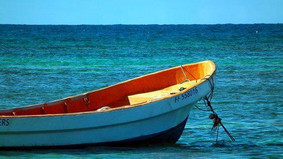 Bild vomFischerboot auf Martinique