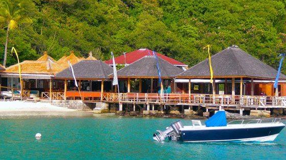 Bild der Basil's Strandbar auf Mustique