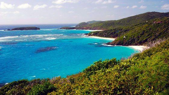 Bild vom Ausblick auf Strand von Mustique