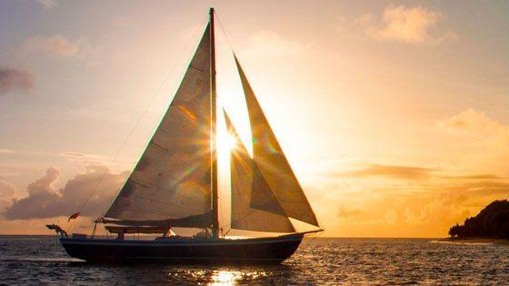Bild vom Sonnenuntergang vor Petit Martinique