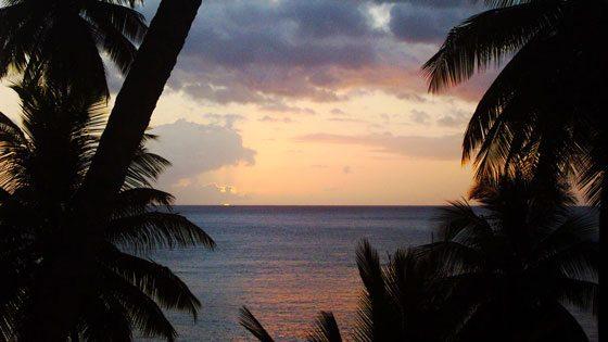 Bild vom Sonnenuntergang auf St. Vincent