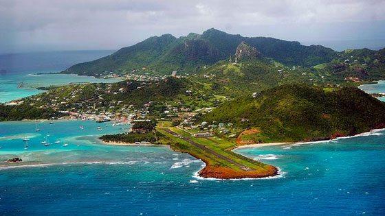 Bild vom Ausblick auf Union island