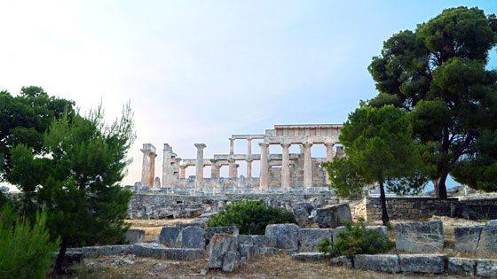 Bild vom Aphaiatempel auf Aegina