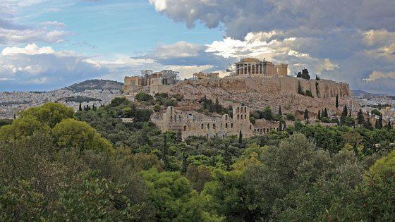 Bild der Akropolis in Athen