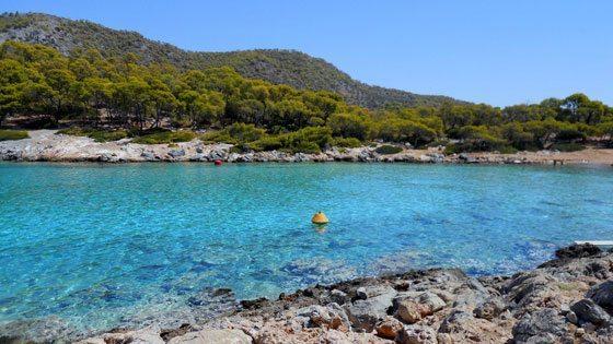 Bild der Aponissos Bucht auf Angistri