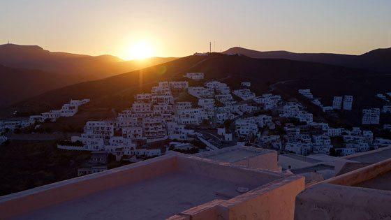 Bild vom Sonnenuntergang auf Astypalea