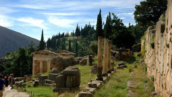 Bild vom Schatzhaus der Sifnioter in Delphi