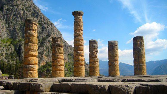 Bild vom Tempel des Apollon in Delphi