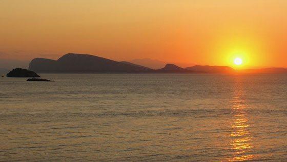 Bild vom Sonnenuntergang bei Dokos