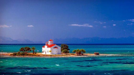 Bild der Kirche Agios Spyridon auf Elafonisos