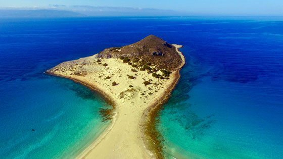 Bild der Insel Simos Sarakiniko auf Elafonisos