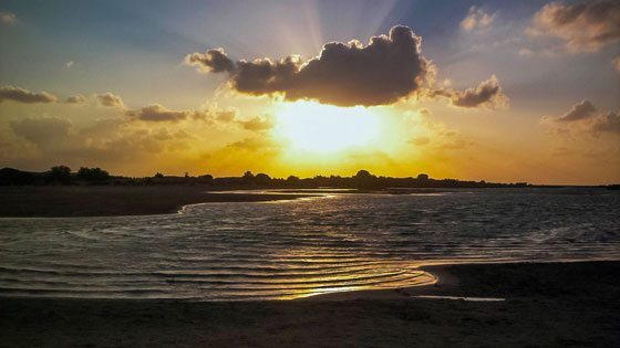 Bild vom Sonnenuntergang auf Elafonisos