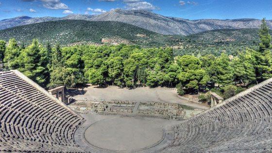 Bild vom Amphitheater von Epidauros