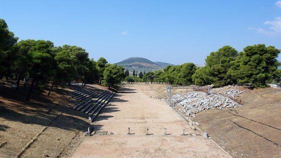 Bild vom Stadion in Epidauros
