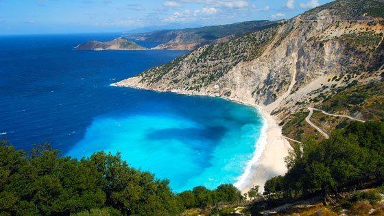 Bild vom Myrtos Beach auf Kefalonia