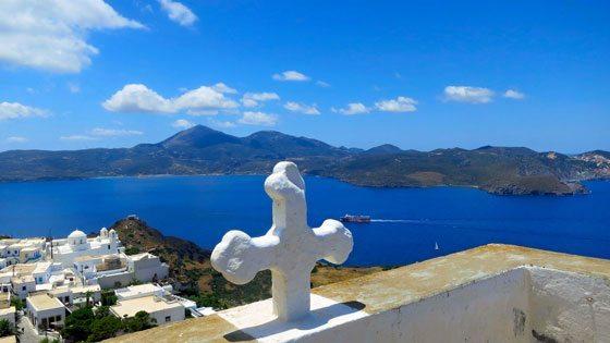 Bild vom Blick auf Plaka auf Milos