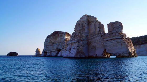 Bild von Felsenformationen von Kleftiko bei Milos