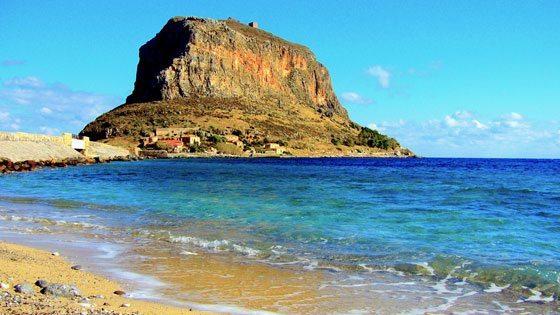 Bild vom Strand auf Monemvasia