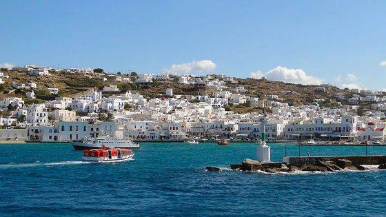 Bild vom Alten Hafen von Mykonos