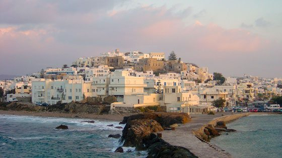 Bild vom Blick auf Naxos Stadt