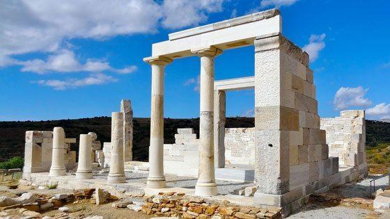 Bild vom Tempel der Demeter auf Naxos