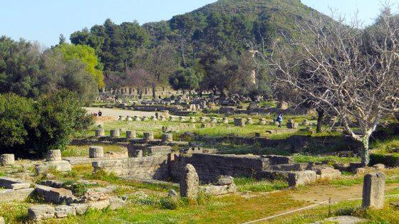 Bild vom Überblick über die Ruinen vom antiken Olympia